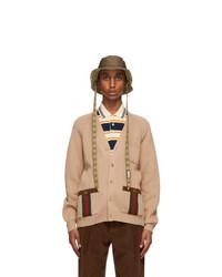 Gucci Brown Canvas Gg Bucket Hat