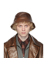 Dries Van Noten Brown Quilted Bucket Hat