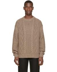 Brown wool knit sweater medium 344167