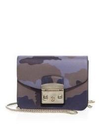 Furla Metropolis Mini Camo Print Leather Crossbody Bag