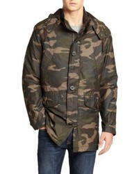 Cole Haan Washed Camo Military Parka
