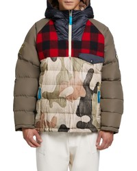 Brown Camouflage Puffer Jacket