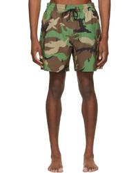 Polo Ralph Lauren Green Brown Camo Traveler Swim Shorts