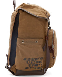Diesel Brown Canvas Leather Backpack | Where to buy & how to wear