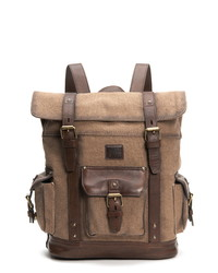 Frye Ethan Canvas Leather Backpack