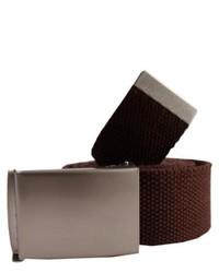 Redlinch canvas belt brown medium 118833