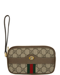 Gucci Brown Gg Ophidia Pouch