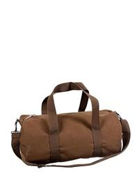 Brown Canvas Duffle Bag