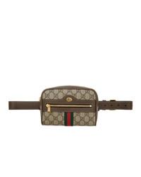 Gucci Brown Gg Supreme Ophidia Belt Bag