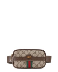 Gucci Ophidia Gg Supreme Small Canvas Belt Bag