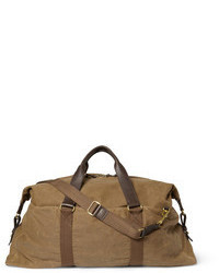 J.Crew Abingdon Waxed Cotton Canvas And Leather Holdall Bag