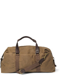 J.Crew Abingdon Waxed Cotton Canvas And Leather Holdall