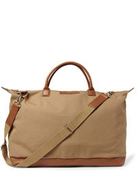 Hartsfield leather trimmed organic cotton canvas holdall medium 29740