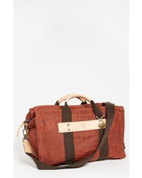 Will Leather Goods Canvas Duffel Bag Rust One Size