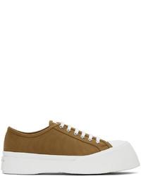 Marni Khaki Canvas Pablo Sneakers