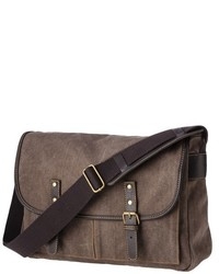 Canvas messenger bag brown medium 427649