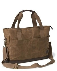 Old Navy Waxed Canvas Messenger Bag For