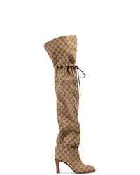 Gucci Original Gg 85 Canvas Over The Knee Boot