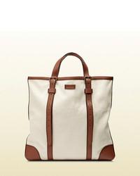 Gucci Convertible Canvas Tote Bag