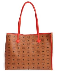 Medium kira visetos coated canvas shopper brown medium 750863