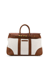 Brunello Cucinelli Two Tone Luggage Tote