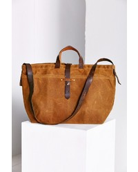 UO Urban Renewal Peg And Awl Large Waxed Canvas Tote Bag