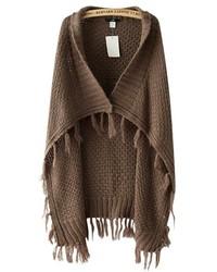 ChicNova Tassels Knitting Cape