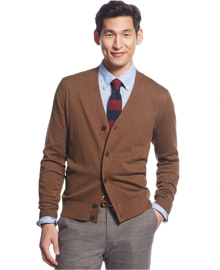 Tommy Hilfiger Signature Solid Cardigan | Where to buy & how to wear