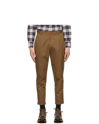 Z Zegna Brown Canvas Cargo Pants
