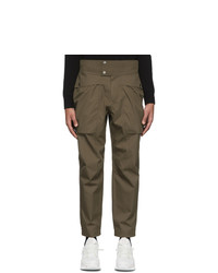 Z Zegna Brown Gabardine Cargo Pants