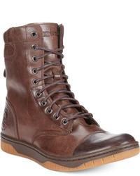 Diesel Tatradium Basket Butch Zip Leather Boots Shoes