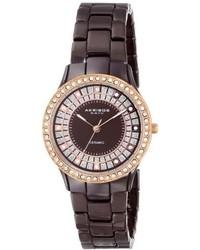 Akribos XXIV Ak509br Ceramic Slim Quartz Watch