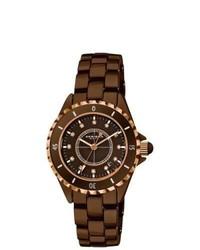 Akribos XXIV Quartz Date Ceramic Bracelet Watch