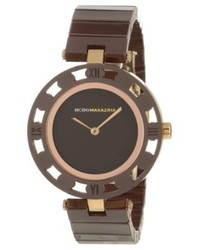 BCBGMAXAZRIA Bg8253 Analog Vintage Brown Dial Watch