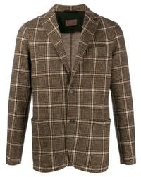 Altea Checked Jersey Blazer