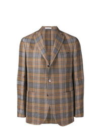 Boglioli Checked Single Breasted Blazer