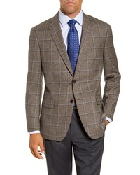 Hart Schaffner Marx Classic Fit Windowpane Wool Sport Coat