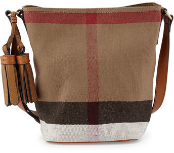 cfdf370c2be4 ... Burberry Ashby Canvas Check Crossbody Bag Saddle Brown ...