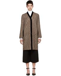 Rosetta Getty Brown Check Top Coat