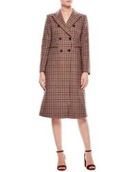 Sandro Colere Check Wool Blend Coat