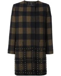 Etro Studded Checked Coat