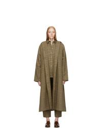 Totême Tan Check Montella Coat