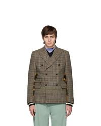 Junya Watanabe Beige And Brown Wool Tweed Coat