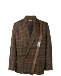 Necessity Sense Double Breasted Check Blazer