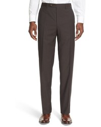 Brown Check Dress Pants