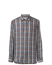 Loro Piana Checked Button Down Shirt