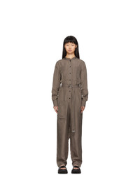 Tibi Brown Walden Jumpsuit
