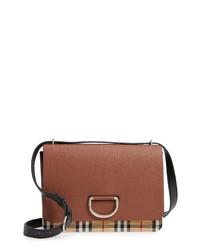Burberry Medium D Ring Vintage Check Leather Crossbody Bag