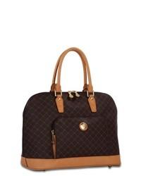 Rioni Signature Large Brown Dome Handle Bag