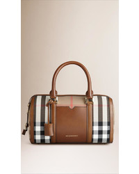 Burberry The Medium Alchester In House Check And Leather